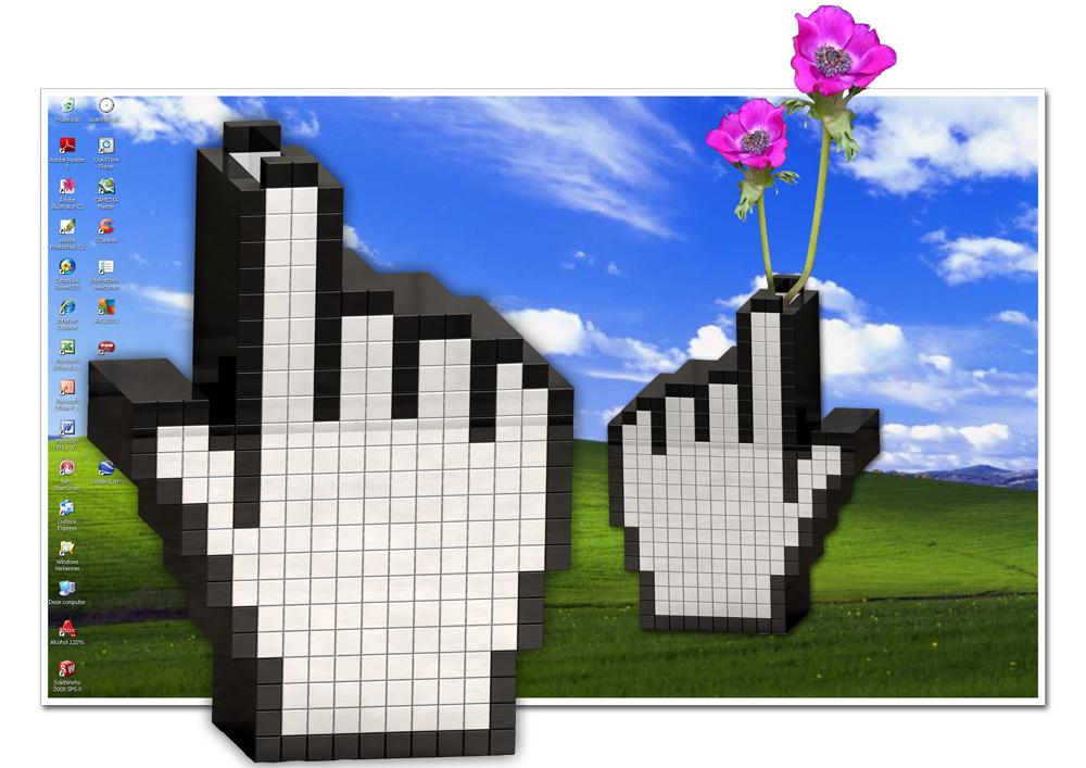 Hyperhand Vase