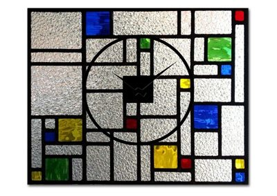 "Clock ""Stained Glass"""